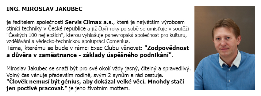 Exec club_miroslav jakubec_servis climax_business success