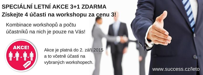 SPECIÁLNÍ LETNÍ AKCE 3+1 ZDARMA_workshop_business success